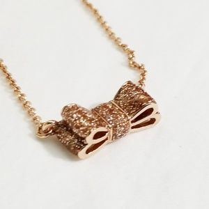 Kate Spade Moon River Glitter Bow Pendant Necklace